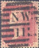 1862 1d Rose-red C13 Plate R16 'MC'